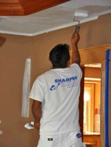 how to paint a room - paint the ceiling