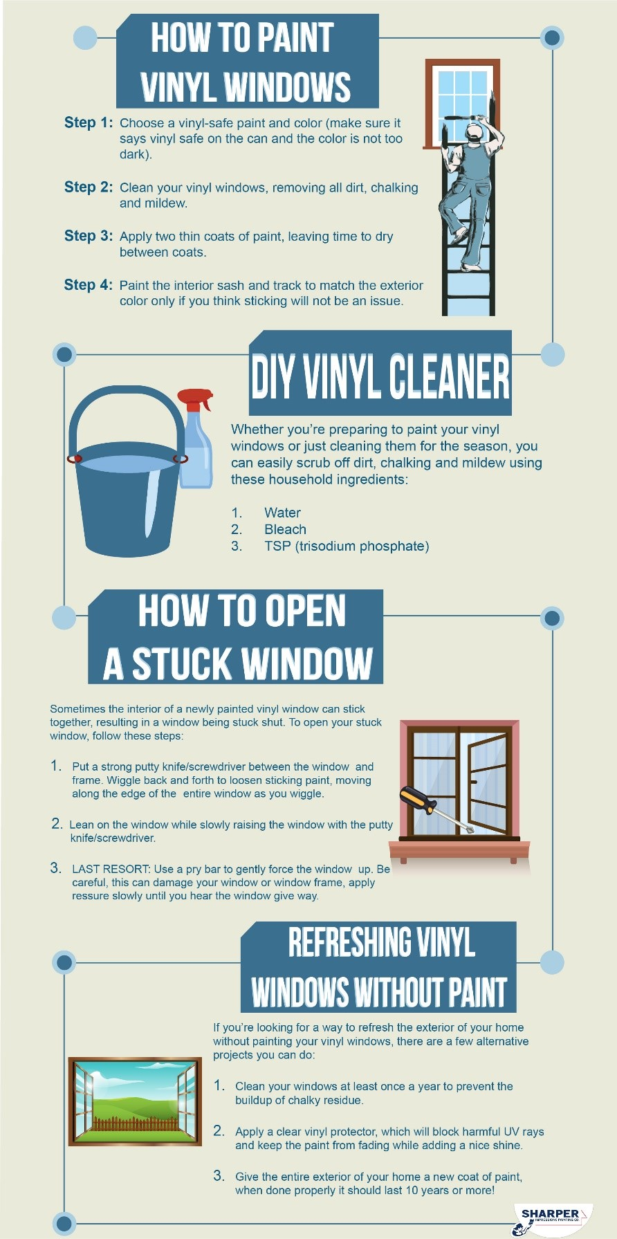 How to paint vinyl windows sharper impressions painting well break down the process of how to paint vinyl windows into a few easy to follow steps rubansaba