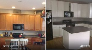 kitchen cabinet painting-winter interior painting projects