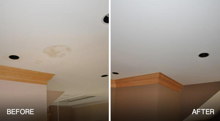 interior painting projects for winter-basement ceiling