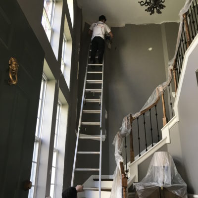 Columbus Painter Painting Stairway Wall