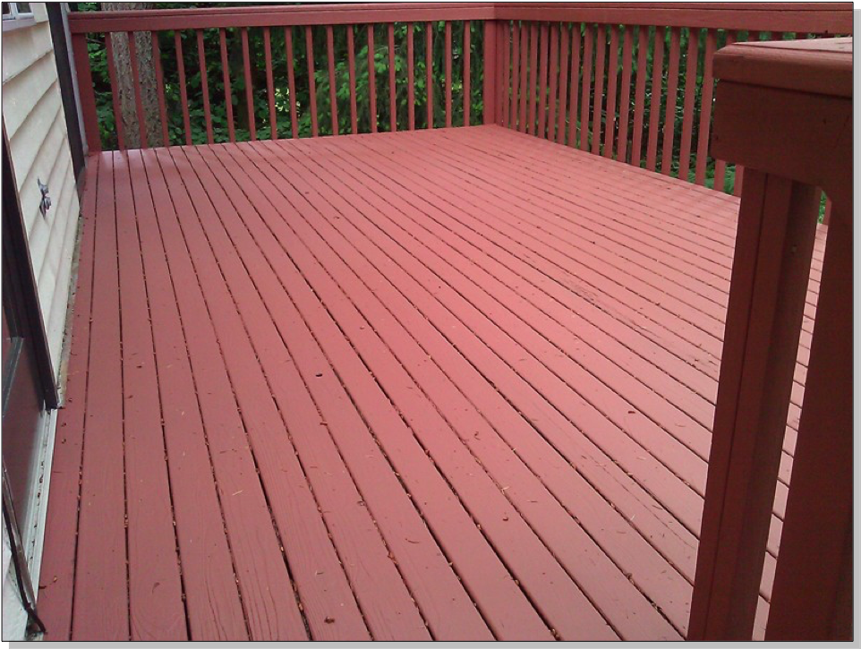Wood Deck Staining After