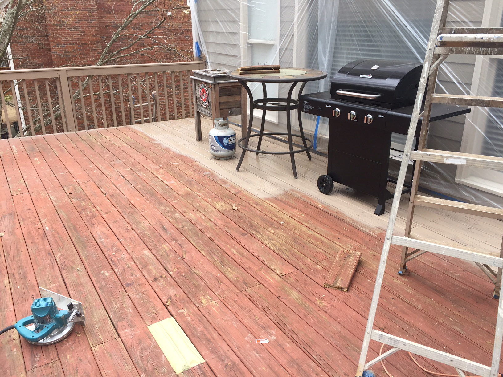 Deck Staining Upgrade Before