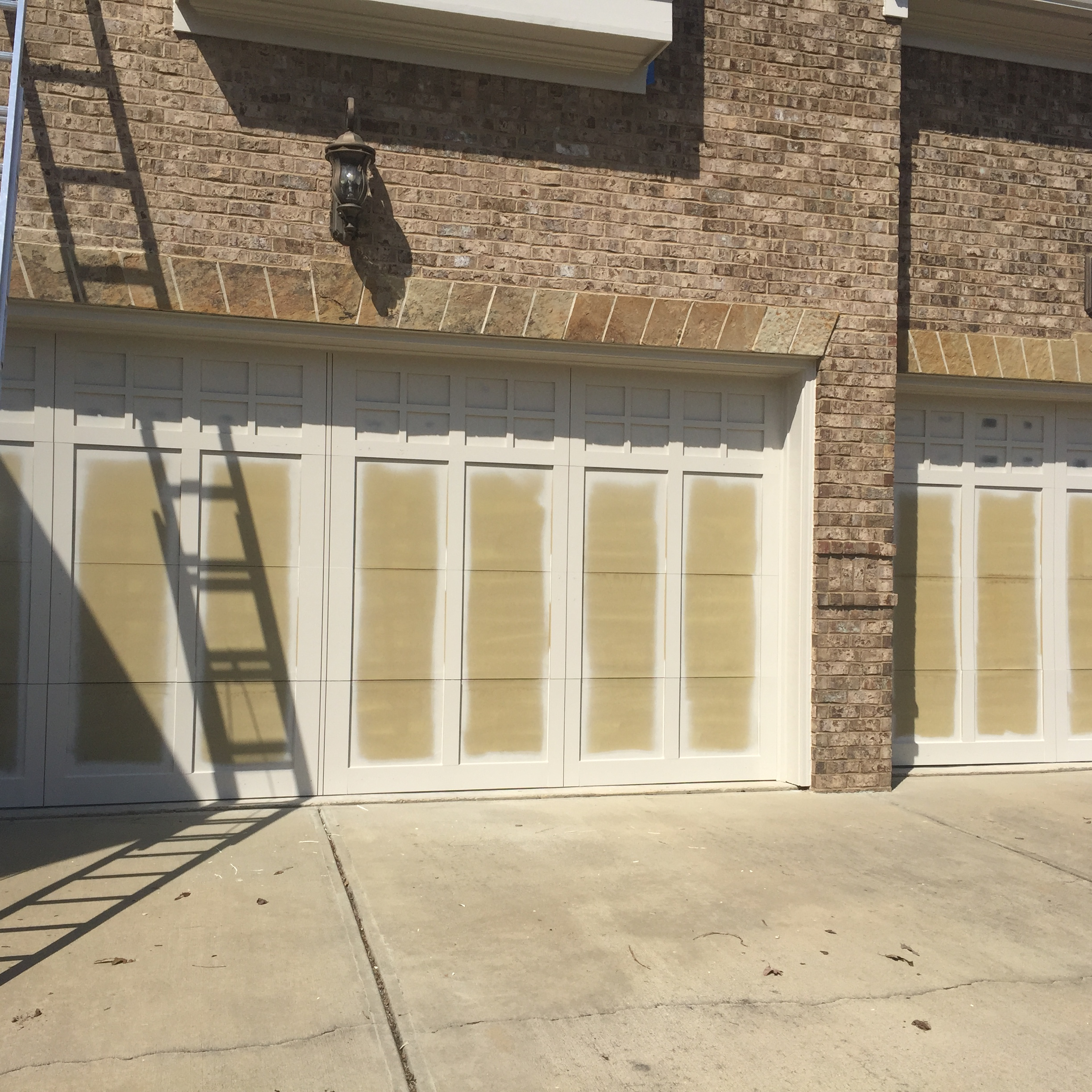 Garage Door Painting Before
