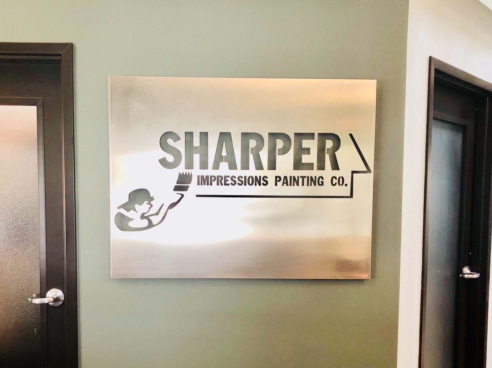 New Sharper Impressions Office Sign