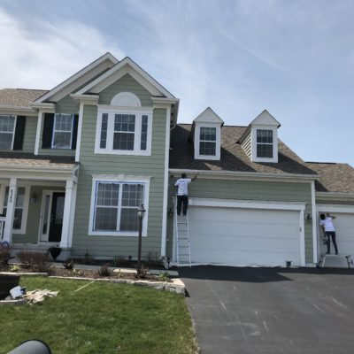 exterior house painting trim and garage door painting