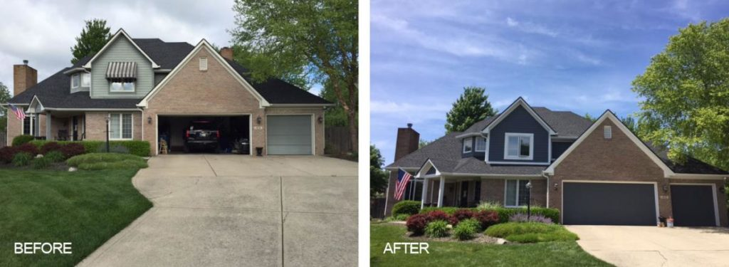 Professional Garage Door Painting Before and After
