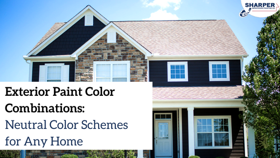 Exterior Paint Color Combinations: Neutral Color Schemes