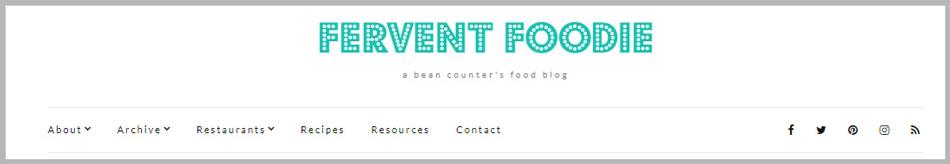 Fervent Foodie Blog