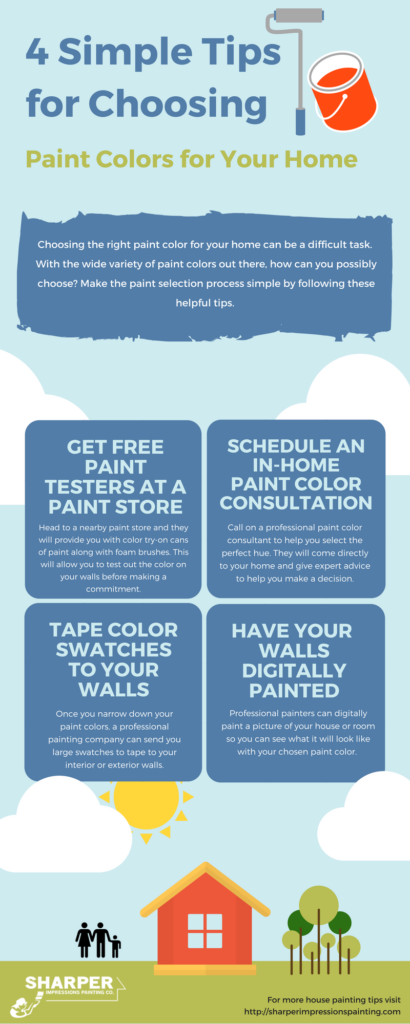tips for choosing paint colors for your home infographic