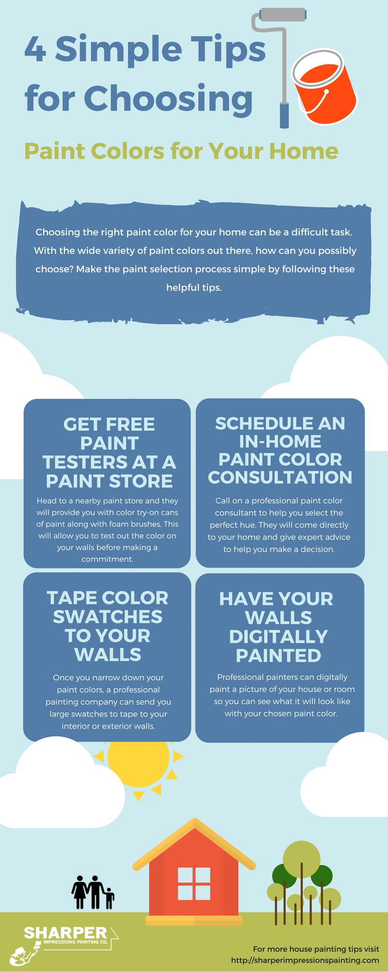 4 simple tips for choosing paint colors for your home infographic