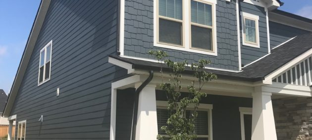 blue siding with white trim exterior painting upgrade