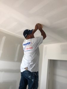 commercial painting interior ceiling painting prep