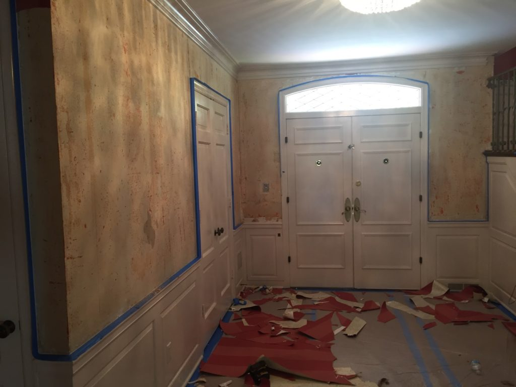Overland Park Interior Painting Before Wallpaper Stripping