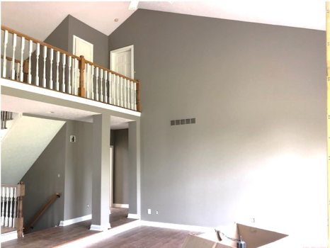 carmel indiana interior wall painting after