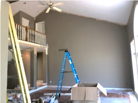 interior wall painting carmel indiana before