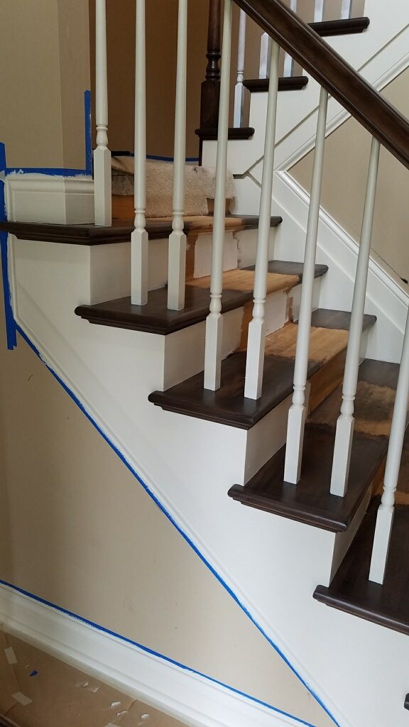 wood trim staining westerville