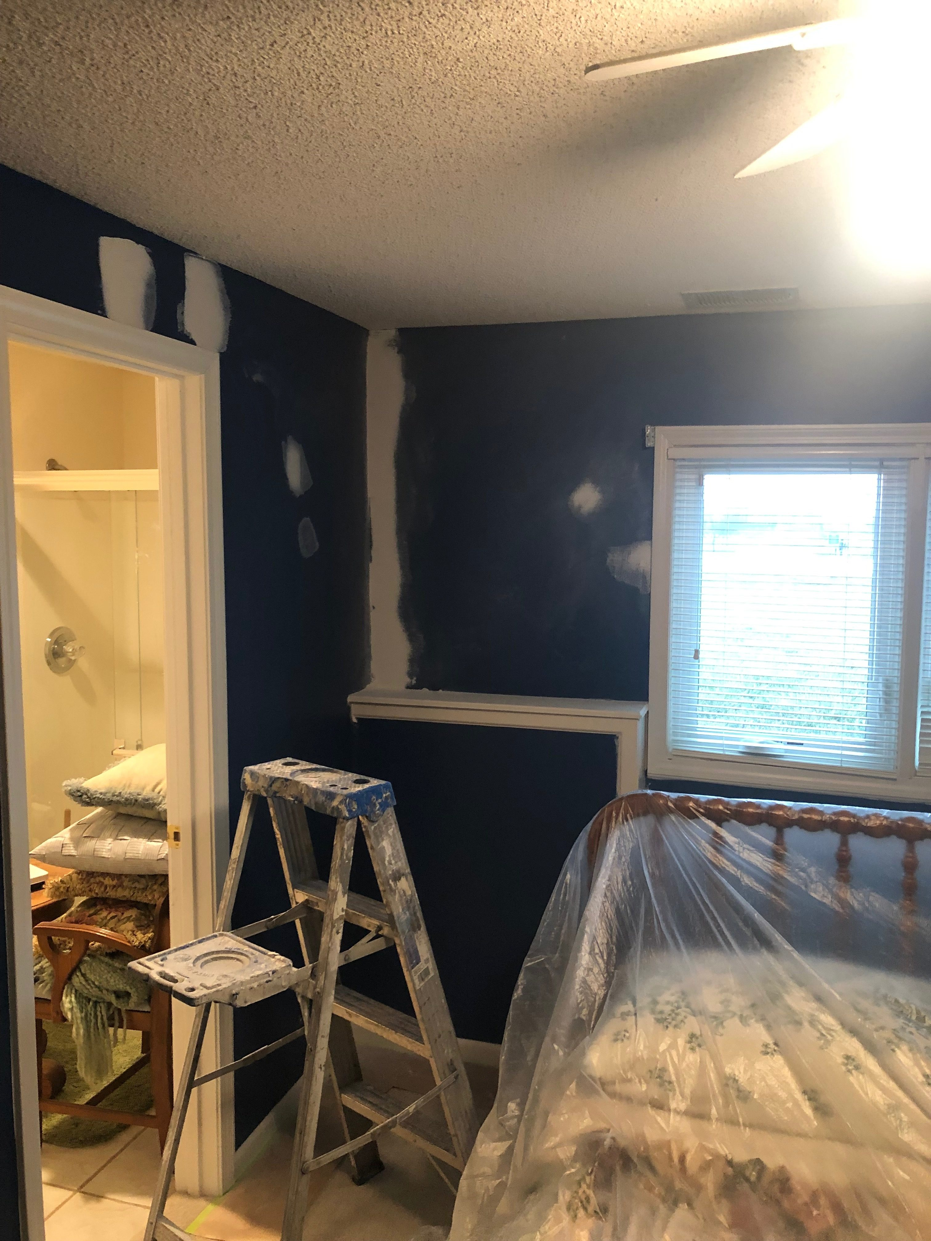 interior wall painting before