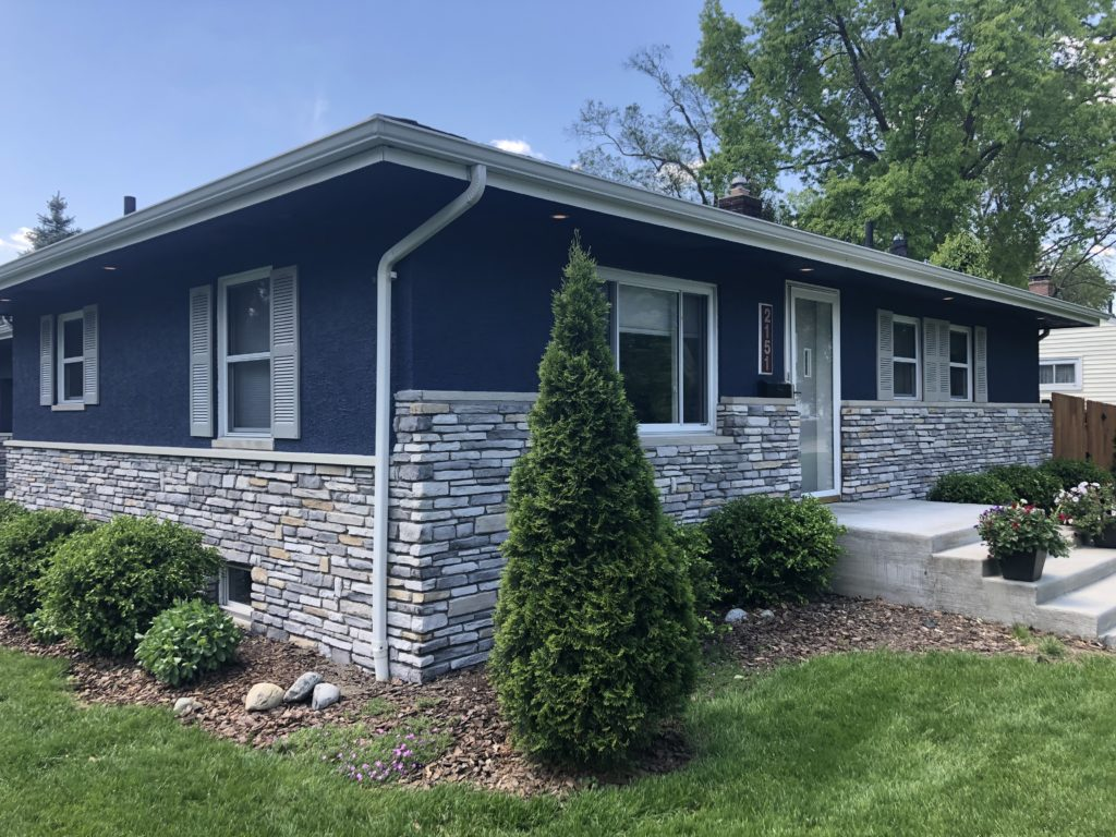 residential exterior painting after picture