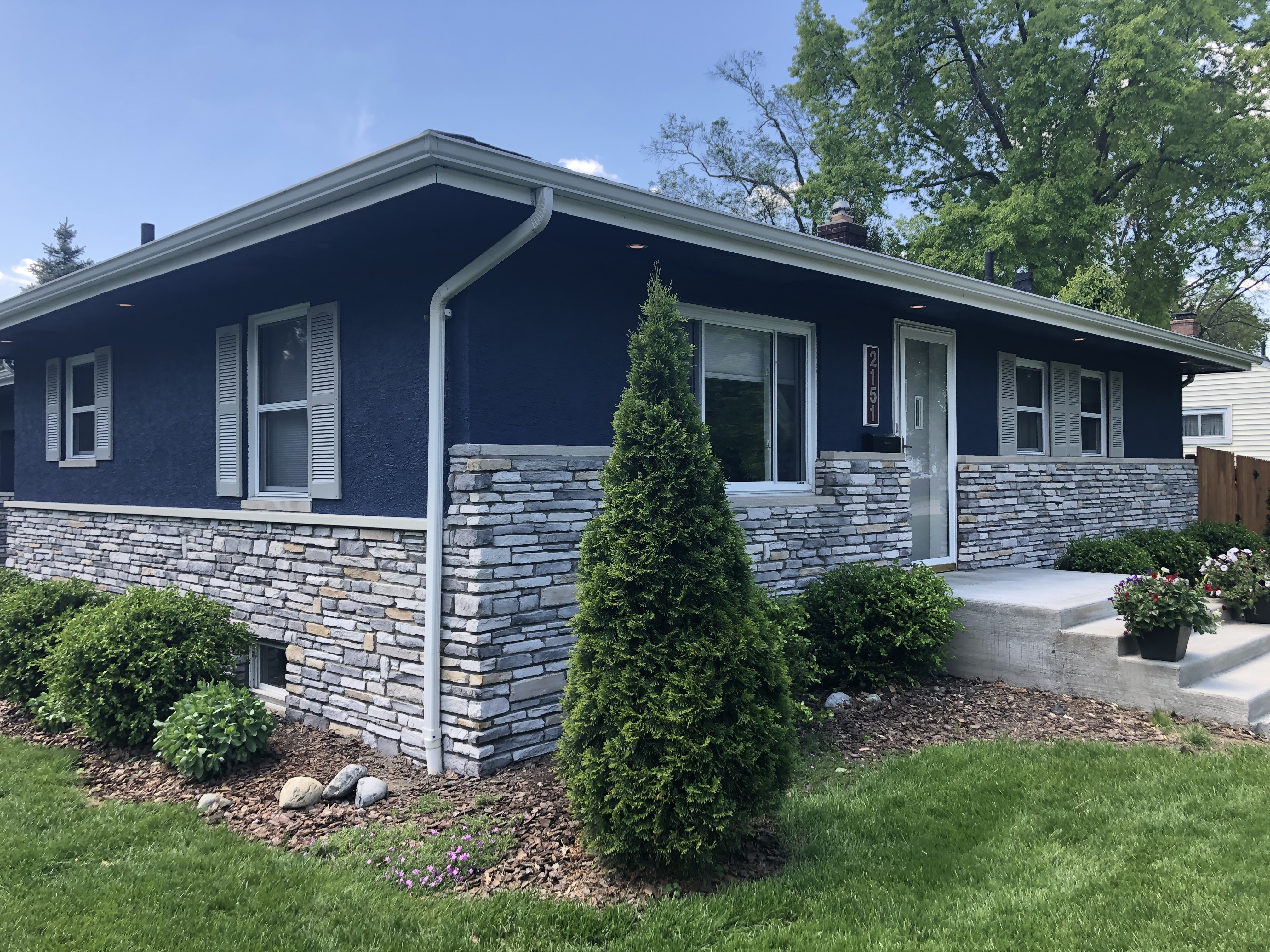 Exterior Stucco Painting In Columbus Oh Before After Pictures