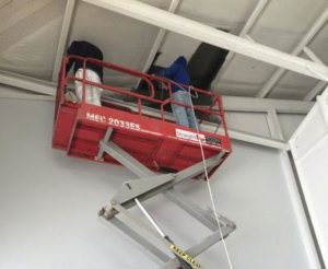 commercial ceiling painting high set ups