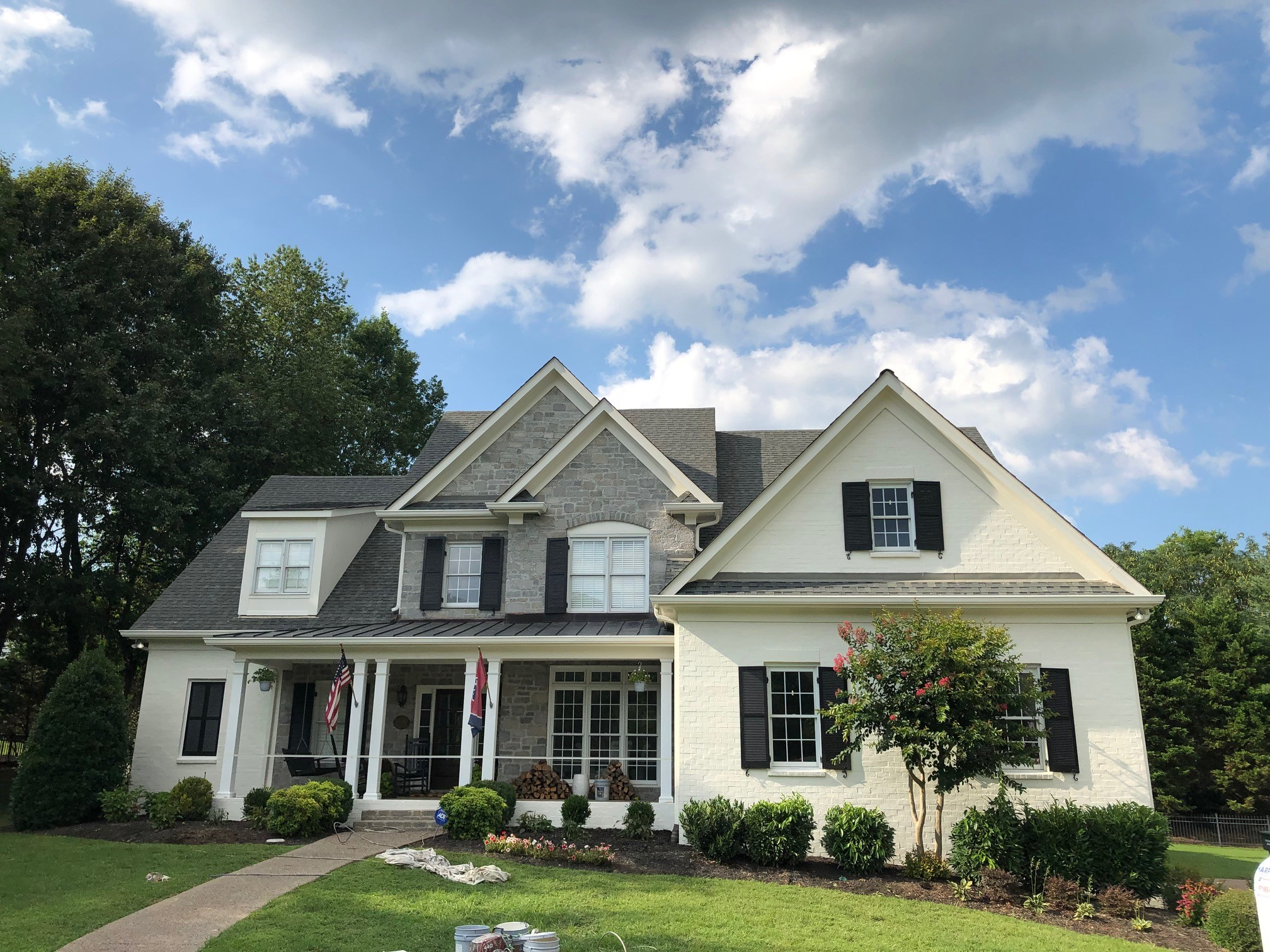 professional exterior painting after