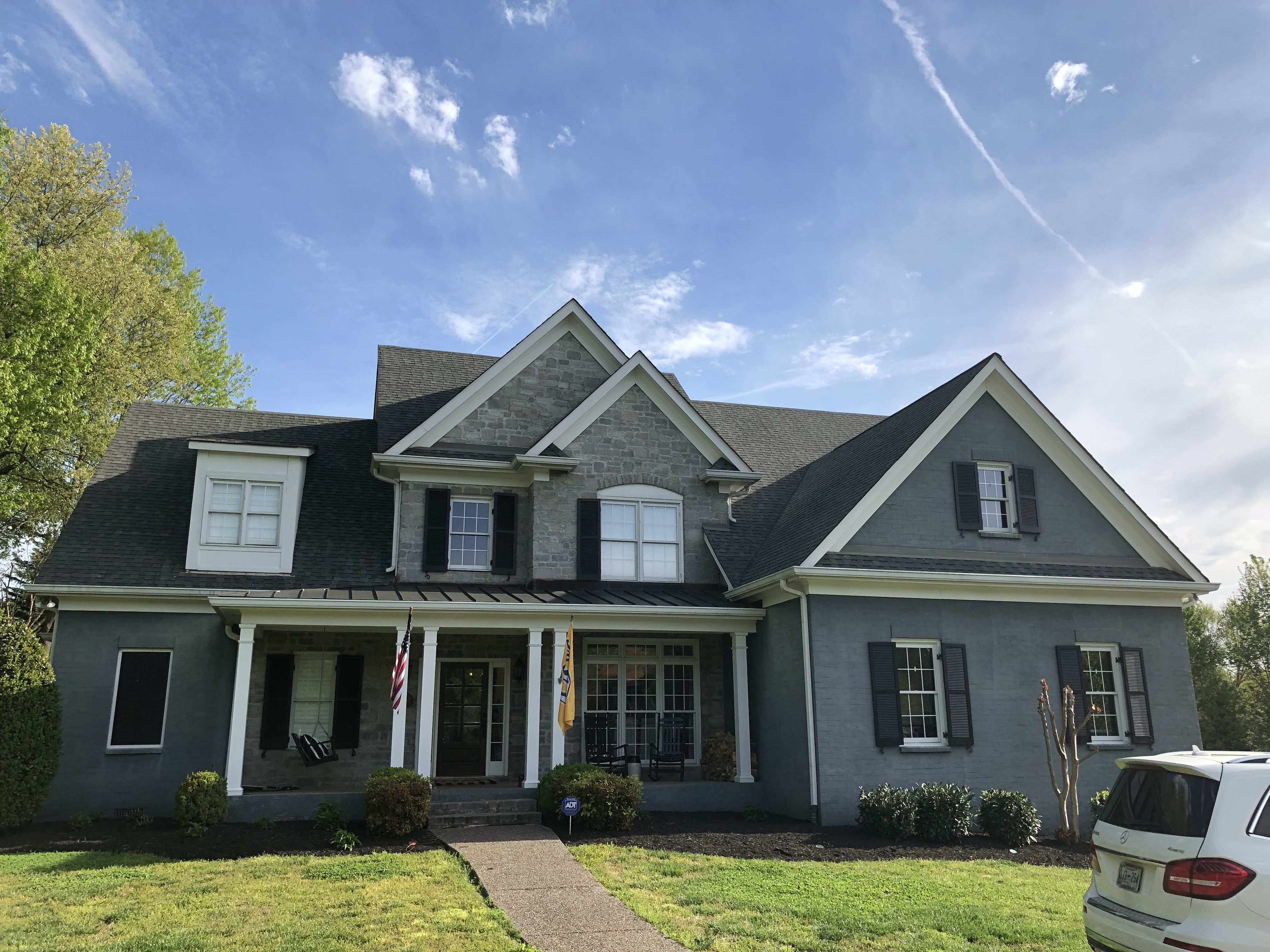 professional exterior painting before