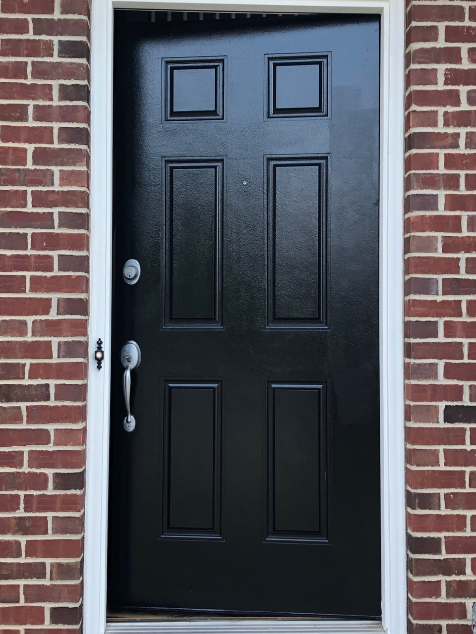 exterior metal door painting