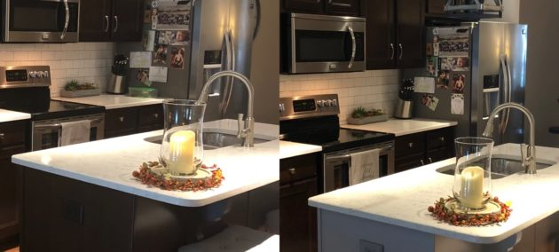 kitchen island painting before and after