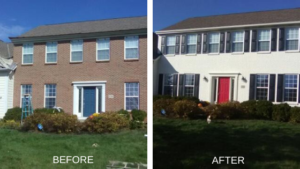 residential exterior before and after