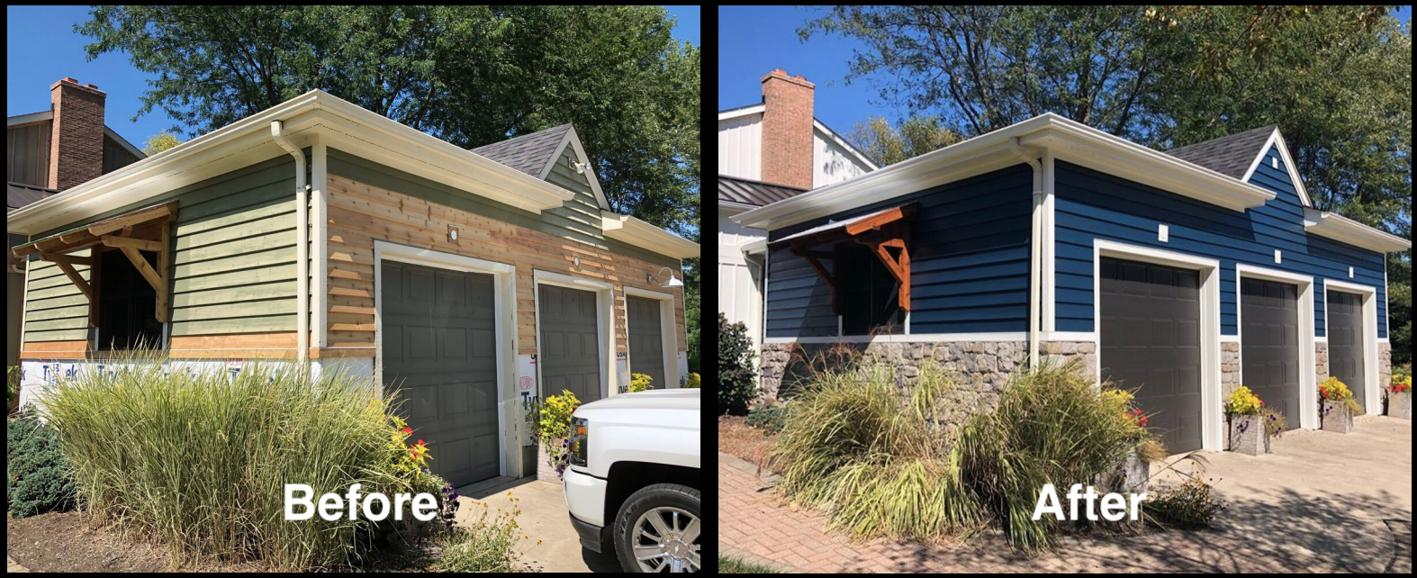 professional exterior painting and wood repair