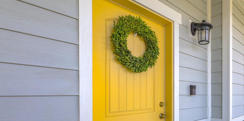 painting front door yellow