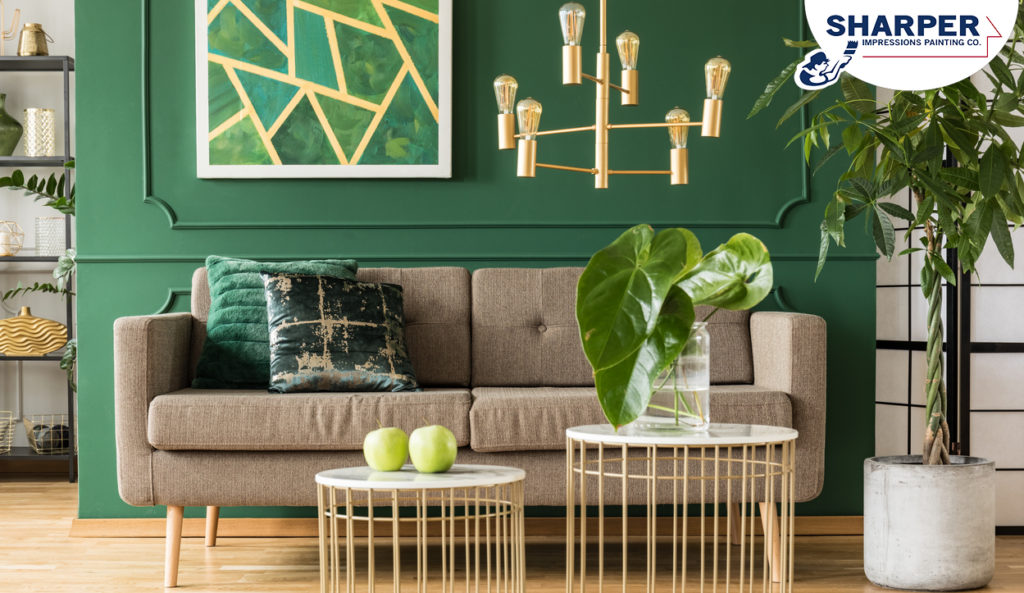 winter interior paint color trends green