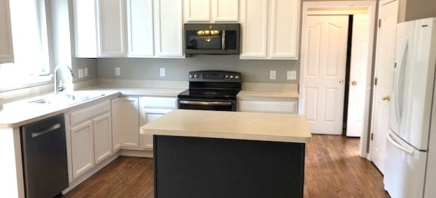 Kitchen Cabinets Painted After - White