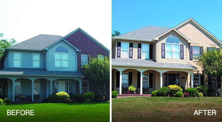 Brick Painting Overland Park Before After
