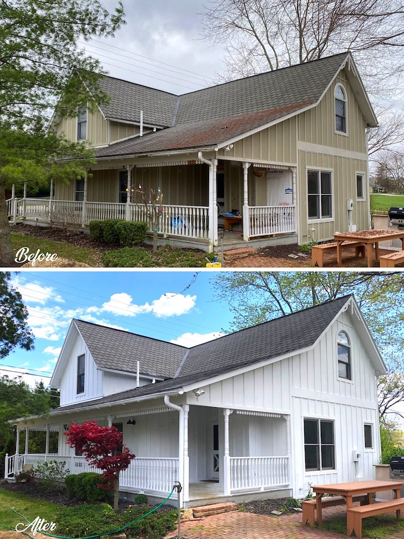 Exterior House Painting Refresh Westerville, Ohio