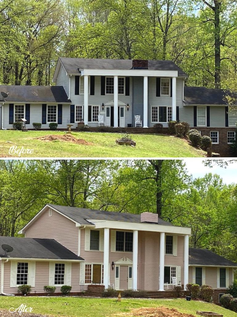Exterior Home Painting Makeover Brentwood TN