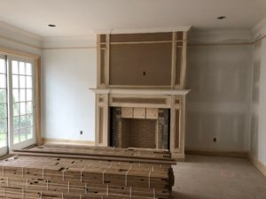 Brick Fireplace Painting